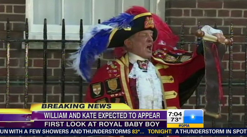 Town Crier for William and Kate's baby