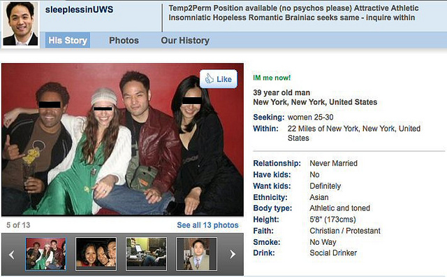 Dating site profile examples male