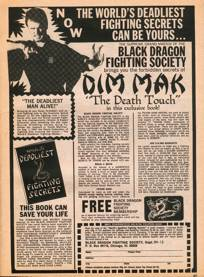 Advertisement for Count Dante's 1968 World's D...