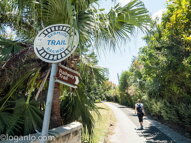 Start of the Bermuda Railway Trail