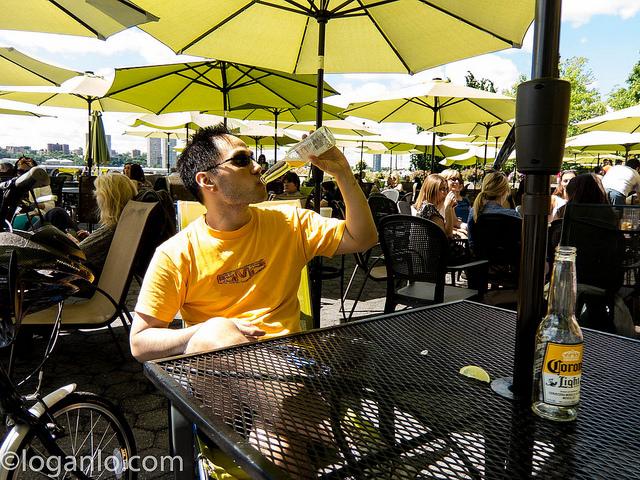 Drinking at Pier I