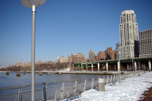 Snow on the 72nd Street Pier in NYC