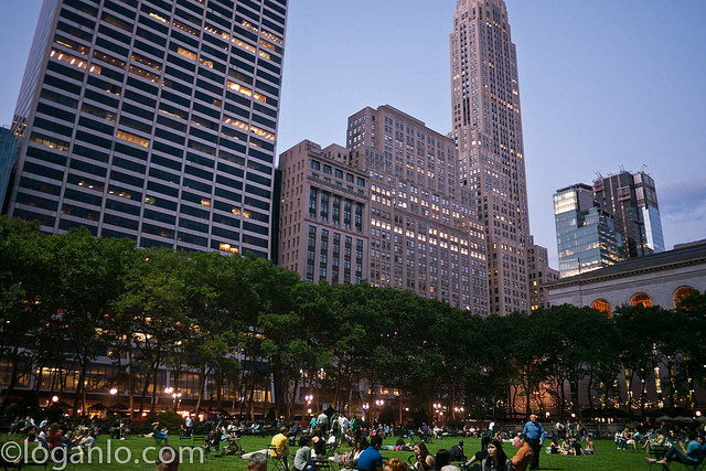 Bryant Park, NYC in Summertime