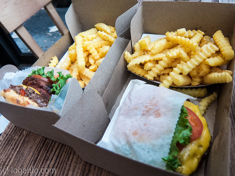 Shake Shack burger and fries in UWS