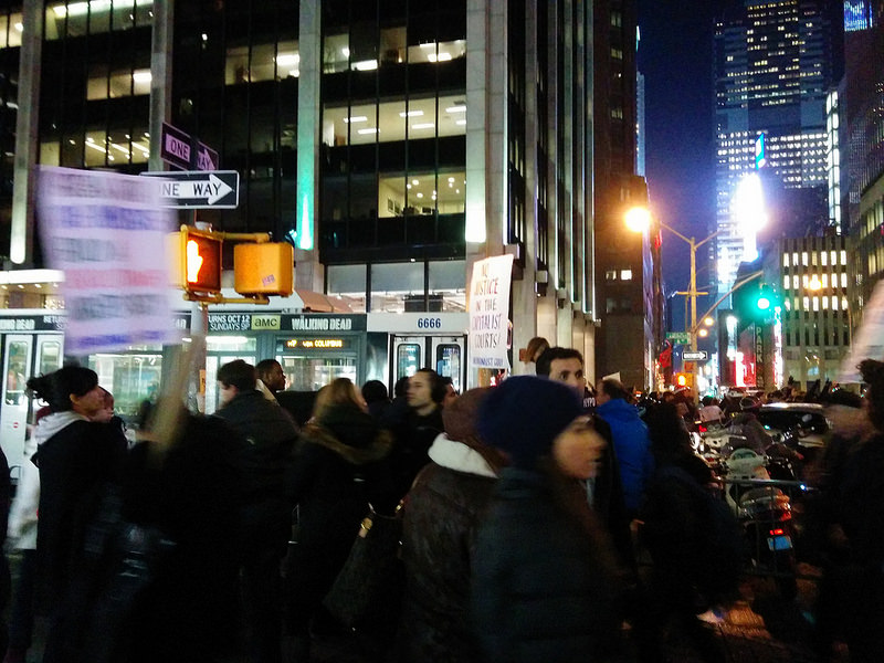 Protests in NYC near Rockefeller Center 2014.12.03