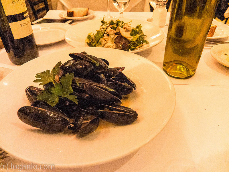 Mussels at Arte Cafe in NYC, UWS