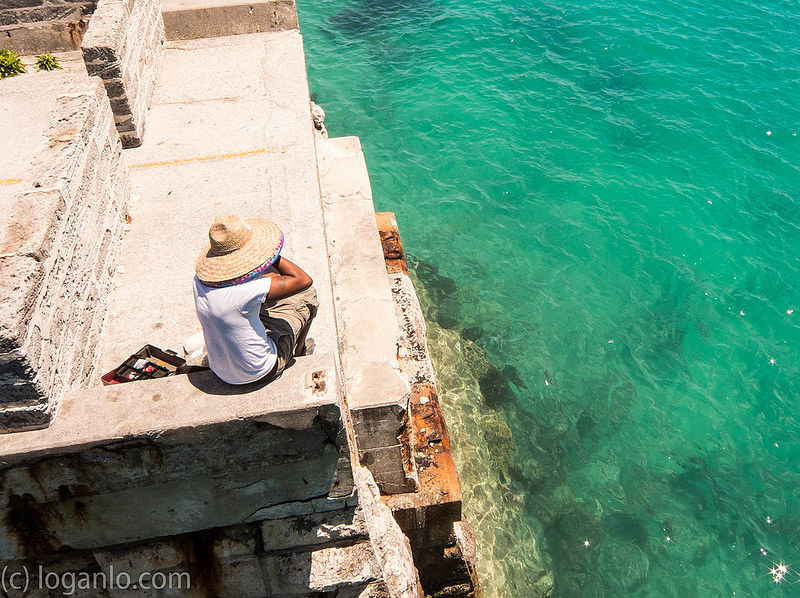 Man on Pier in Bermuda
