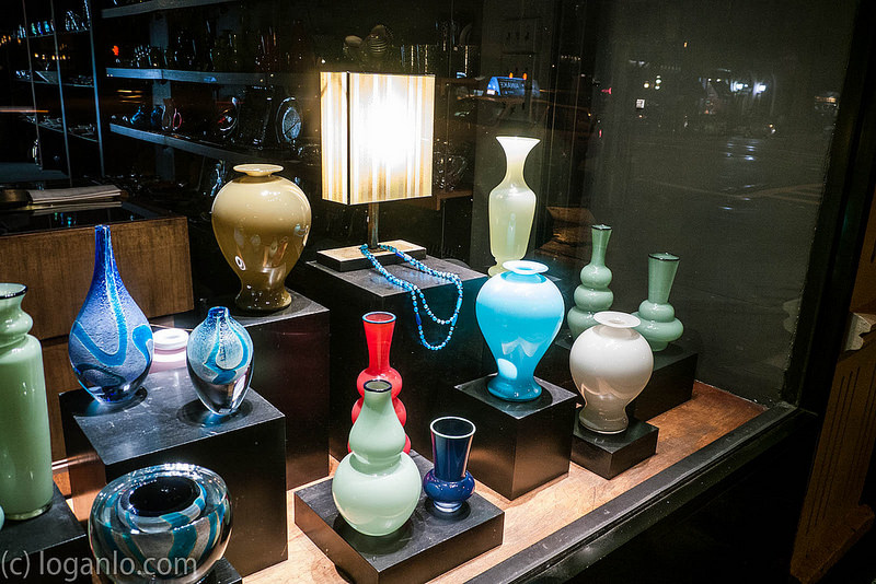 Vases in a Window Display