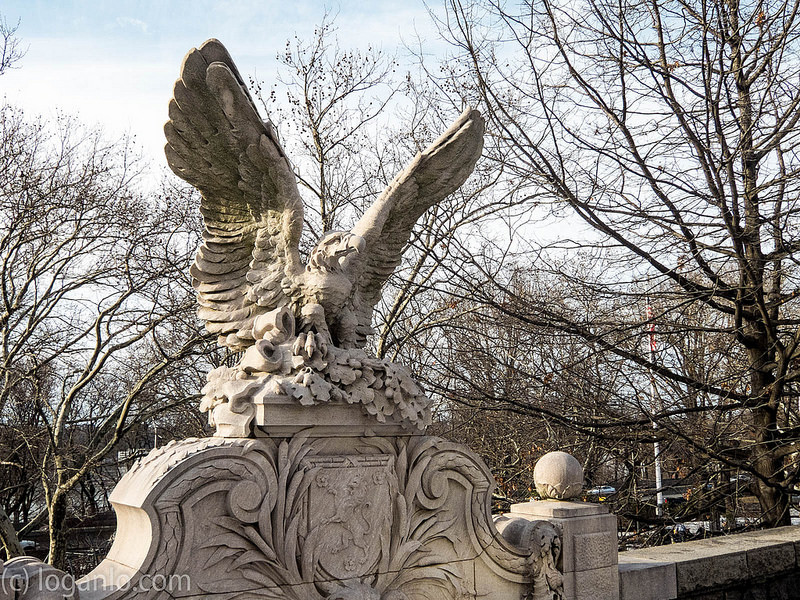 Eagle Statue in Riverside Park, NYC, UWS