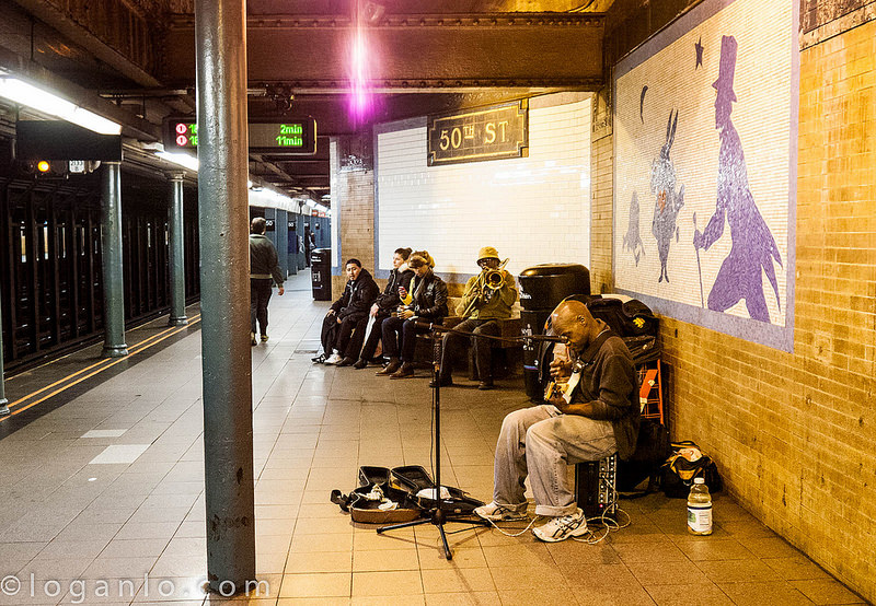 Buskers at 50th St Subway Station NYC
