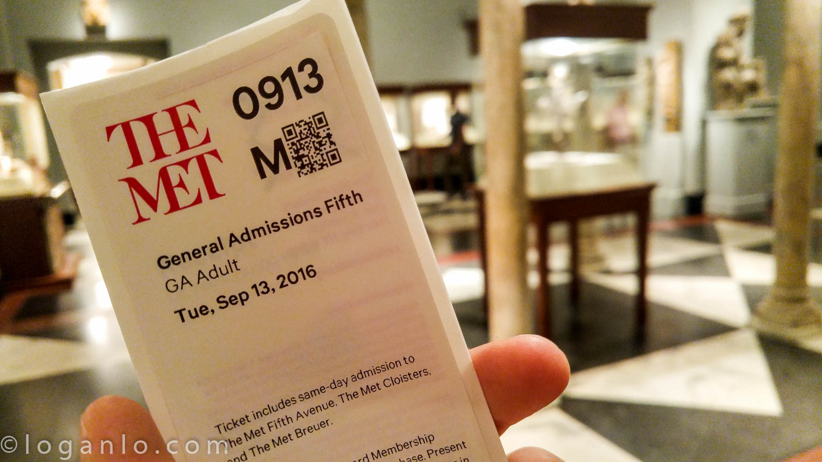 Admission Ticket for The Met