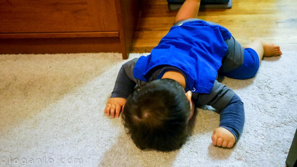 The kid, sleeping