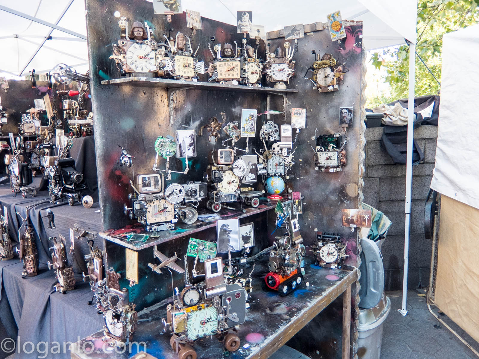 Clocks in a New York City flea market