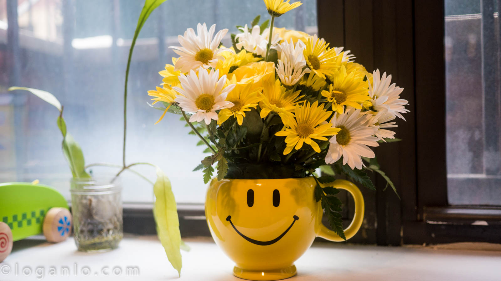 Flowers in a Smiley Face Vase – On (or close to) Schedule