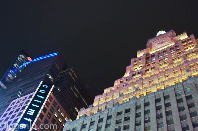 View of the Paramount building in NYC