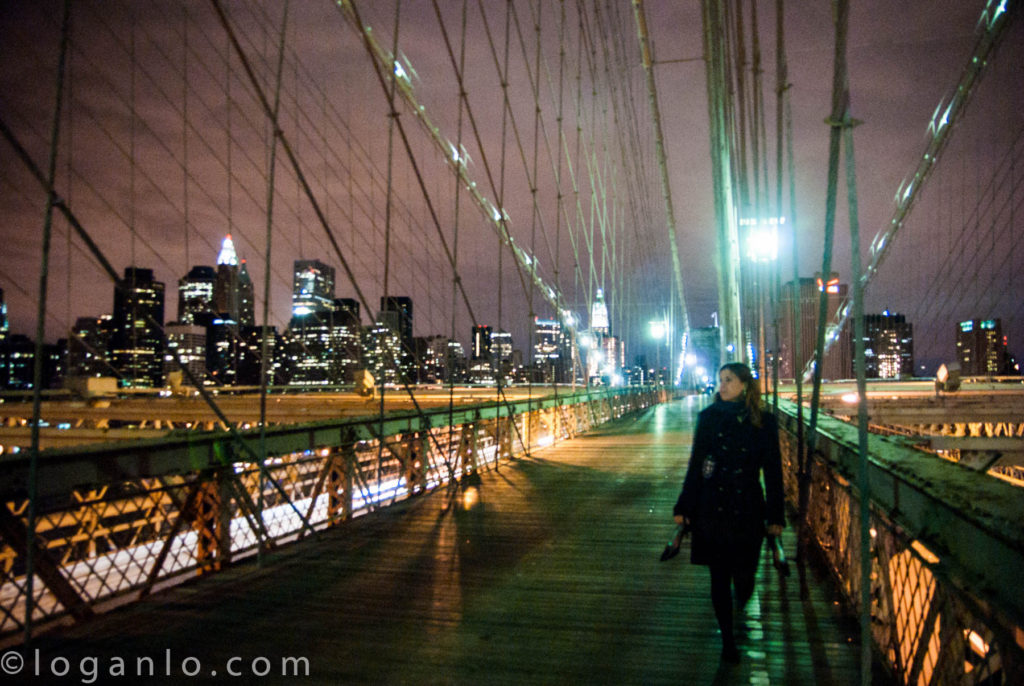 Alison McCarthy on the Brooklyn Bridge