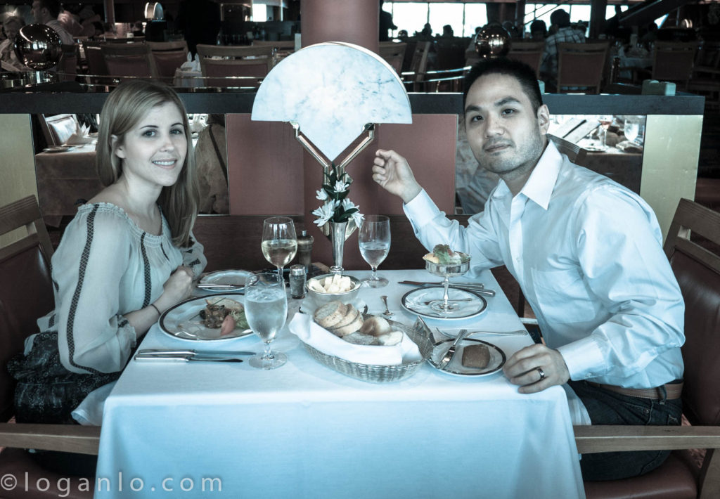 Logan and Alison out to dinner