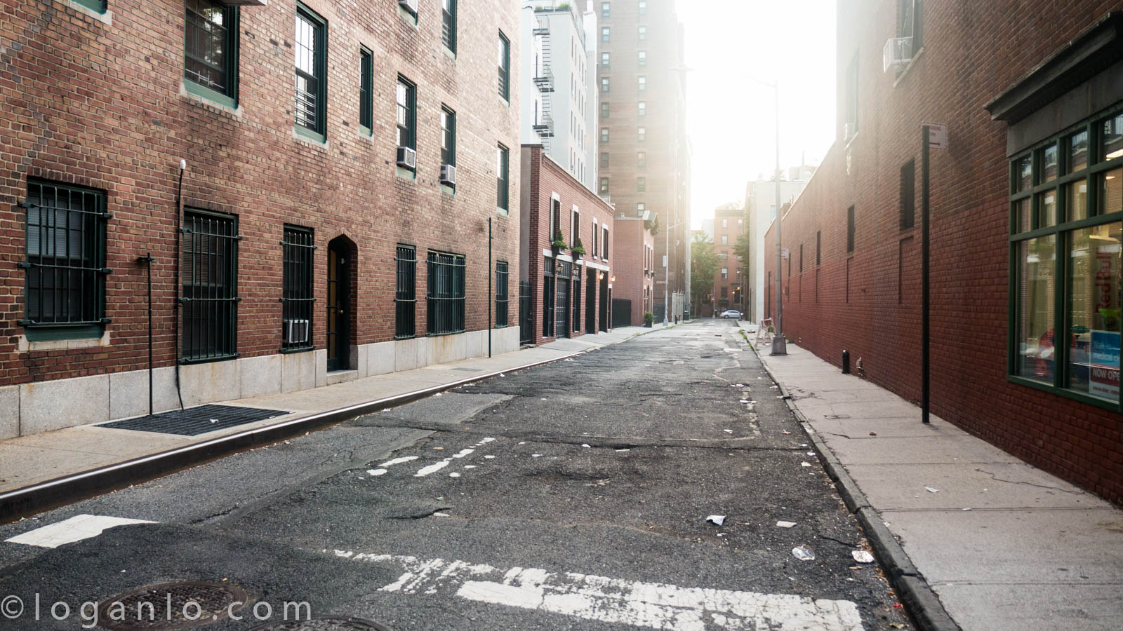 Empty street in Brooklyn