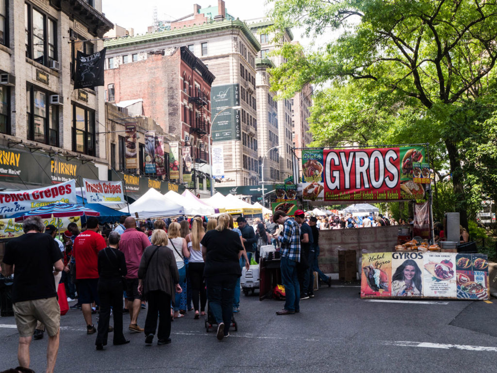Summer Street Fair in the Upper West Side
