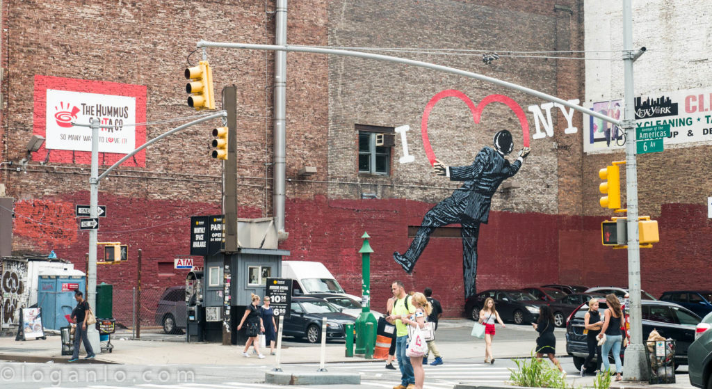 Heart Graffiti in New York City